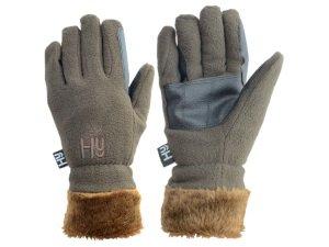 HY5avec doublure en fourrure Gants d'équitation en polaire pour cheval-extrêmement confortable & dirable-Disponible en couleur chocolat et en tailles adulte XL