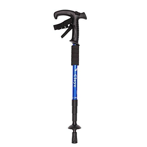 ITODA Wanderstöcke Trekkingstöcke 51-110cm verstellbar T-Griff leicht Wanderstock mit Anti-Rutsch Antishock Suspendierung für Schnee Bergsteigen Walking Outdoor Klettern Backpacking Blau
