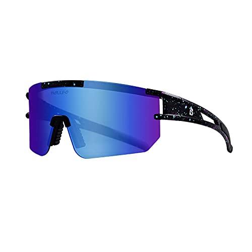 WANA Deportes al aire libre Ciclismo gafas,Gafas de sol polarizadas,Galvanoplastia película real polarizada,Gafas de sol de bicicleta de golf, Deportes corriendo