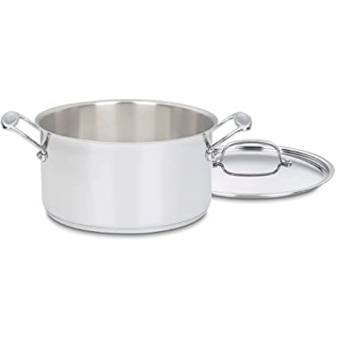 Cuisinart 744-24 Chef's Classic Stainless Stockpot with Cover, 6-Quart