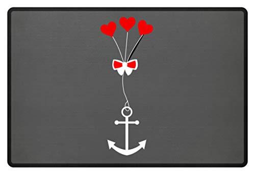 Generieke anker liefde meisjes vrouw strik hart - eenvoudig en grappig design - voetmat