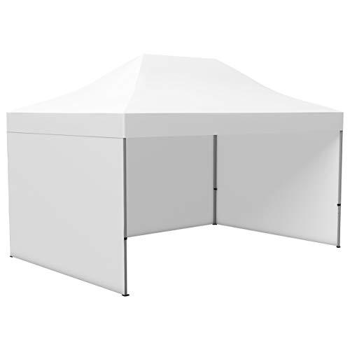 Vispronet Profi Faltpavillon/Faltzelt Basic 3 x 4,5 m, weiß (3 Zeltwände) - weitere Farben und Größen lieferbar