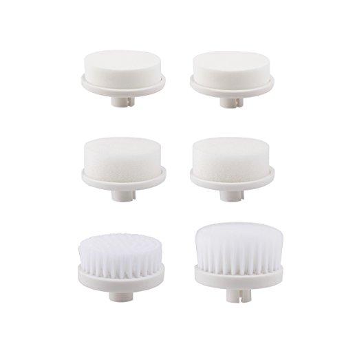PIXNOR 6 Stück Ersatzbürstenköpfe für P2016 7 in 1 Gesichtsreinigungsbürste