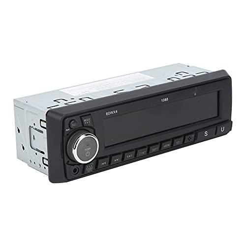 Changor Reproductor de MP3 de Coche, Hecho de plástico y Metal LCD 87.5-108.0MHz Multimedia Car Estéreo