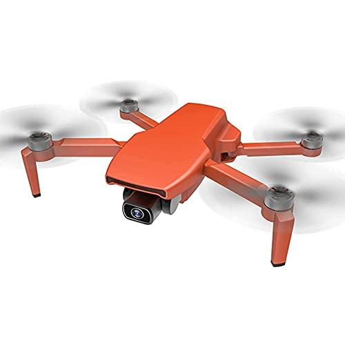 FMHCTN Drone con Fotocamera 4K ad altissima Definizione, Quadcopter GPS Pieghevole per Principianti con Ritorno Automatico del Motore brushless e Flusso Ottico Arancione