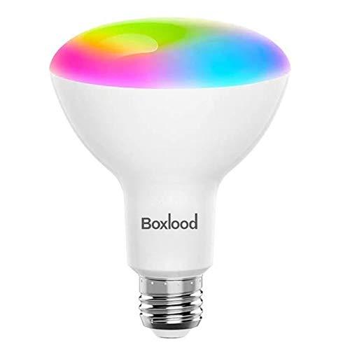 Boxlood 10W Lampadina Smart E27 Base BR30 Lampada Funziona con Alexa e Google Home, Lampadina Intelligente WiFi Flood, Equivalente 100W, Cambio colore RGB dimmerabile 2700K-6500K