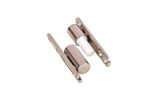 Gedotec Renovierbänder Zimmertür Türbänder für Innentüren zum Aufschrauben | Stahl vernickelt | Türscharnier mit wartungsfreier Gleitlagertechnik | 15 x 83 mm | 1 Stück - Aufschraub-Bänder für Türen