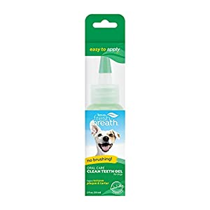 Fresh Breath by TropiClean No Brushing Clean Teeth Dental & Oral Care Gel for Dogs, 2oz, Made in USA