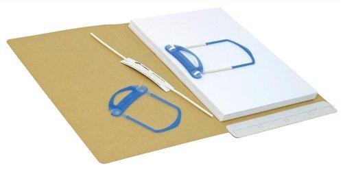 Arnos File Fastener - Paquete de 100 sujeciones adhesivas para encuadernar, blanco