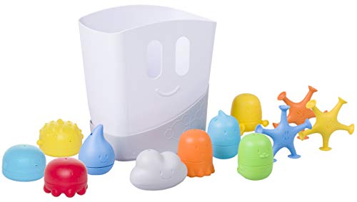 Best Buy! Ubbi Baby Bath Toy Gift Set, Includes Toy Drying Bin and 11 Bath Toys, Dishwasher Safe, Ba...