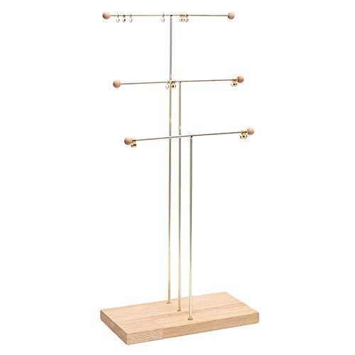 NNDQ 3-stufiger Tischkettenhalter, hängender Organizer , Box-Display mit Schmuckablage BaseSchmuck-Organizer-Ständer...
