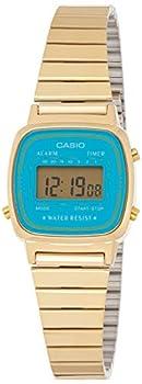 Casio Women s LA670WGA-2 Gold Stainless-Steel Quartz Watch with Digital Dial