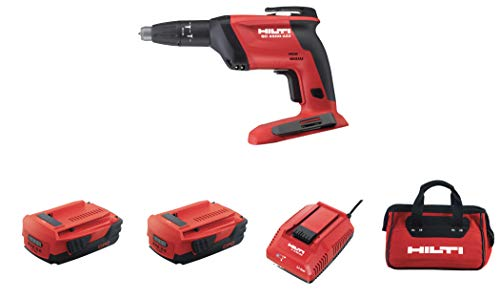 Hilti SD 4500-A22 Cordless High Speed Drywall Screwdriver Kit with B22/2.6 Batteries, Charger and Bag
