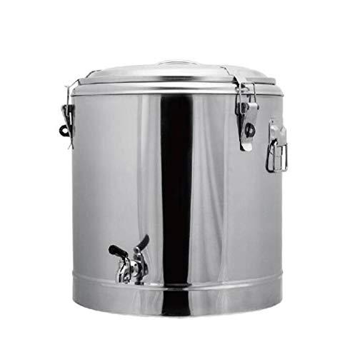 LBJYDGE Roestvrijstaal isolatie vat wijn vat isolatie soep vat rijst vat melk thee vat enkele nozzle isolatie thee vat 12L-110L