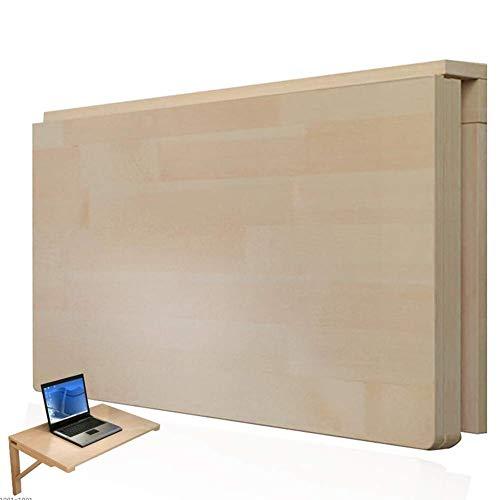 Levendige kantoor/eenvoudige legplank aan de muur gemonteerde tafel laptop staander opvouwbare educatieve tafel salontafel, kleine ruimte, 14 maten (kleur: houtkleur, grootte: 50x30cm)