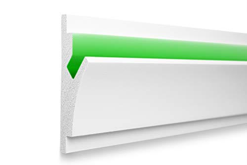 1,15 m | LED Profil | XPS | indirekte Beleuchtung | Trockenbau | lichtundurchlässig | Rigips | Tesori | 150x55mm | KD402