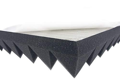 Pyramidenschaumstoff SELBSTKLEBEND TYP 100x50x5 Akustikschaumstoff Schalldämmmatten zur effektiven Akustik Dämmung