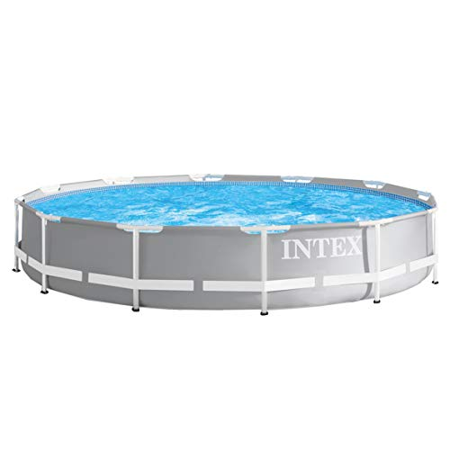 INTEX kit piscine Prism Frame ronde tubulaire 3m66 x 76cm