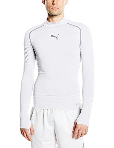 PUMA Herren T-shirt TB Long Sleeve Tee Warm, White, L