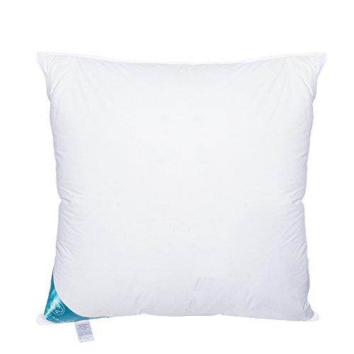 Sandaro Home Kopfkissen 80x80 Daunen-Federn | 3 Kammern Premium Qualität Daunenfedernkissen 80 x 80 cm,100 % Natur Bezug aus Reiner Baumwolle, Ultra-Komfort-Schlaf-Kissen, (1600Gramm)