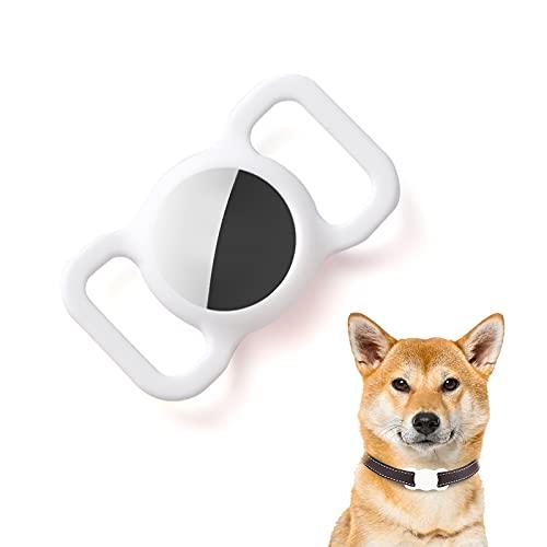 Kuaguozhe Custodia protettiva in silicone compatibile con Apple Airtag GPS trova il collare del cane per Apple Air_Tags,...