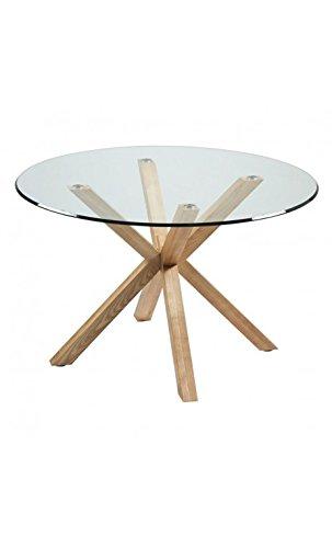 CAMINO A CASA - Table Ronde Verre et Bois Idol 120 cm