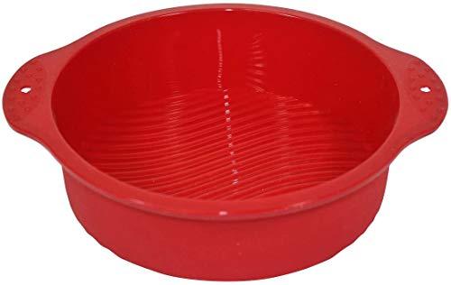 Silicone Worx Moule à gâteau Rond en Silicone Rouge