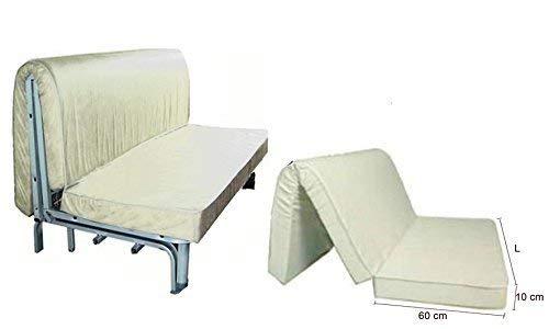 EFFETTO CASA Materasso Divano Pronto Letto Poliuretano Stock Primo Prezzo con Taglio su Seduta. PRONTA Consegna! (160 cm)