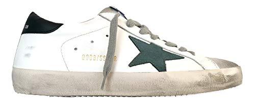 Golden Goose - Zapatillas deportivas vintage Superstar G35MS590.Q21, color blanco/verde y pino Size: 43 EU