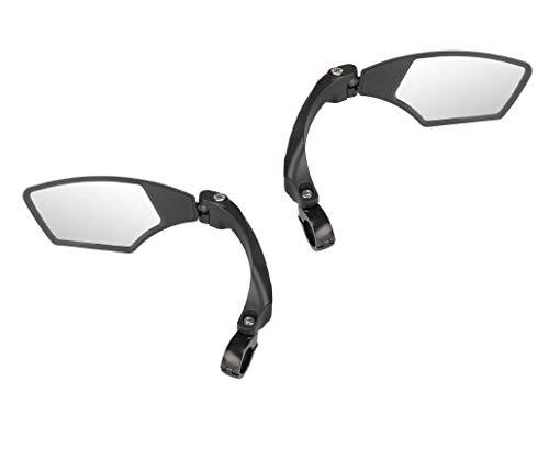 P4B | 3D Spiegel für Ihr Fahrrad - Rechts & Links | Für 22,2 mm Lenkerdurchmesser | 3D = 3-dimensional verstellbar