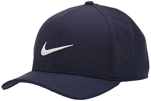 Nike Unisex-Erwachsene Unisex Aerobill Classic99 Performance Hat, Unisex-Erwachsene, Mütze, Unisex Nike Aerobill Classic99 Performance Hat, Obsidian/Anthrazit/Weiß, Medium/Large