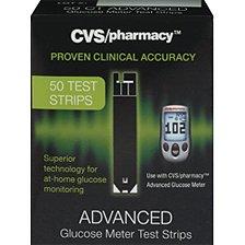 Cvs/pharmacy Advance Glucose Meter Test Strips ~50 Test Strips (Pack of 1)