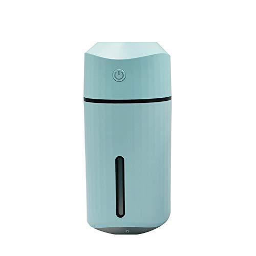 Luchtbevochtiger 320 Ml - Automatische Uitschakeling Zonder Water, Usb-voeding, 30 dB Stille Luchtbevochtiger Voor in De Auto, Tot 6-12 Uur Continu Gebruik, Auto, Yoga, Kantoor, Slaapkamer,Blue