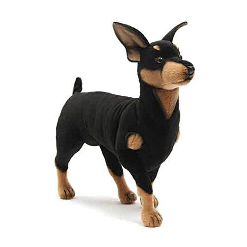 Naughty baby Simulation Hund Plüsch Spielzeug Hund Dobermann Hund Puppe Hund Länge 43 Cm Baby Geburtstagsgeschenk Junge