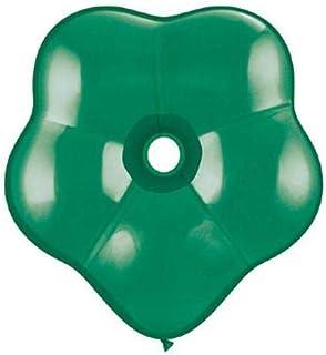 Qualatex ラテックスバルーン 37811-Q ジオブロッサムエメラルド、16インチ、グリーン
