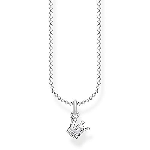 Thomas Sabo Damen Halskette Krone silber 925 Sterlingsilber, 38-45 cm Länge