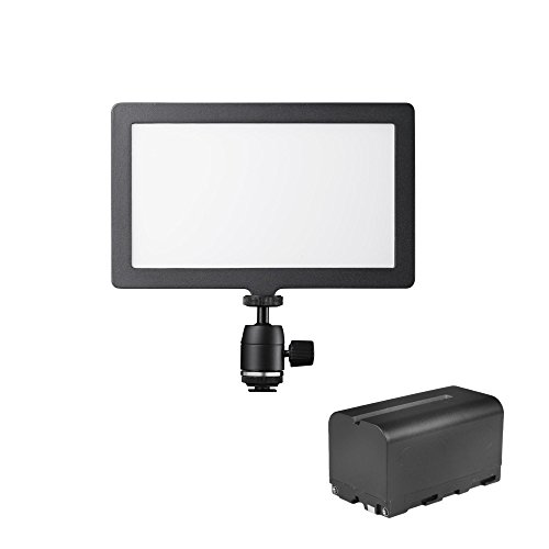 Walimex Pro Soft LED 200 Square Bi-Color, 1 Unidad, Negro