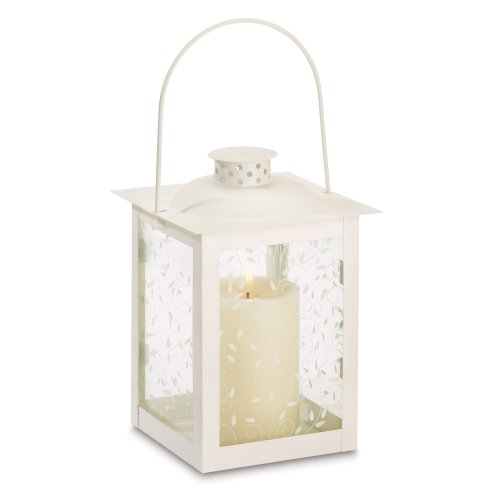 15 Wholesale Large Ivory Color Glass Lantern Wedding Centerpieces