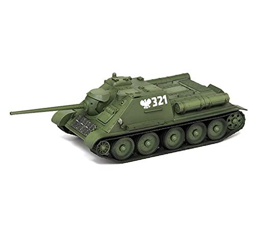 1:72 Vehículo blindado Tierra Modelo Polaco Ejército De La Segunda Guerra Mundial SU-85 Tanque Destructor Guardias Estático Adornos Militares Simulación Producto Muy Adecuado Niños Pasatiempos