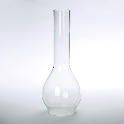 Vesta Schirm Zylinder Glas viele Größen klar Petroschirm Glasschirm Öllampe Glaszylinder (Ø Unten: 45mm)
