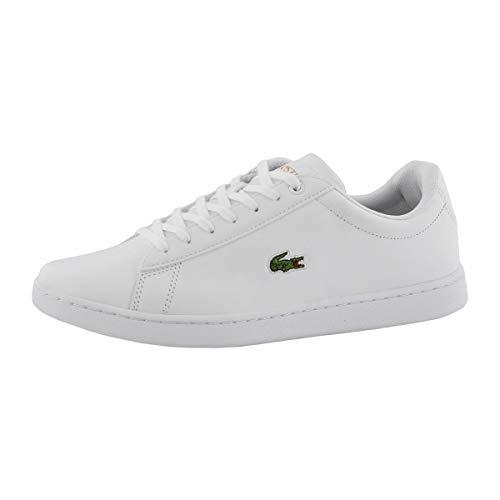 Lacoste Women's Hydez Sneaker, White/Gold, 7