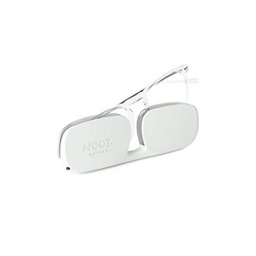Nooz Optics - Blaulichtfilter brille ohne sehstärke Damen und Herren für Bildschirm, Smartphone, Gaming oder Fernsehen - Quadratische Form - Kristall Farbe - Dino Collection