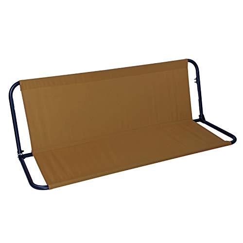 DEMA Sitzbespannung Sitz Hellbraun braun mit Rahmen für Hollywoodschaukel Art. 43301