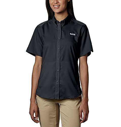 Columbia Women's Standard Tamiami II Short Sleeve Shirt, Black, Small