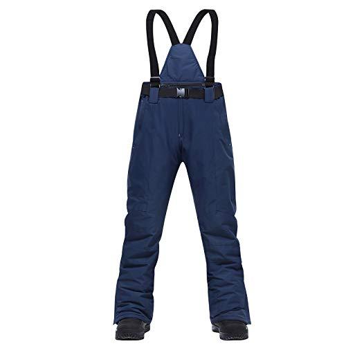 L9WEI - Pantalones de esquí y snowboard para hombre y mujer, pantalones de nieve, impermeables y resistentes al viento, térmicos, forrados cálidos con tirantes desmontables