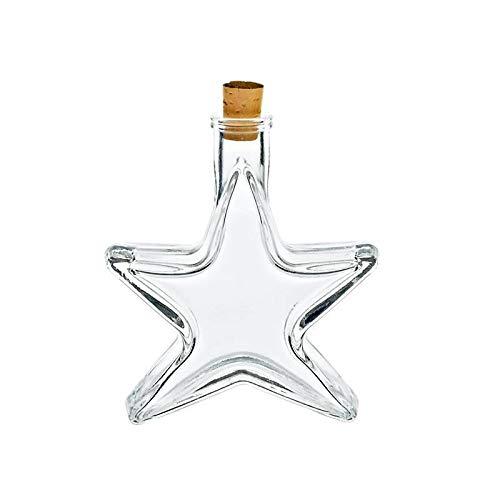 cristalica Motivflasche Flasche Stern Klein Glas Likör Schnaps 100ml Weihnachten