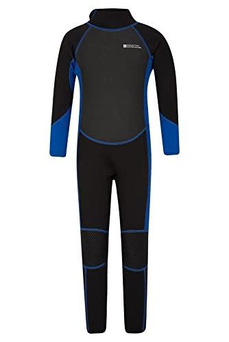 Mountain Warehouse Traje Completo de Neopreno para niños - Protección Solar UPF50+ - Costuras Planas y Cremallera de fácil Deslizamiento - para la Playa, Kayak y Buceo Carbón 5-6 Años