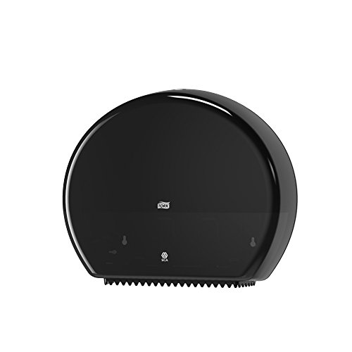 Tork 554008 Spender für Jumbo Toilettenpapier T1 / Tork Toilettenpapierspender mit extra hoher Kapazität in Schwarz