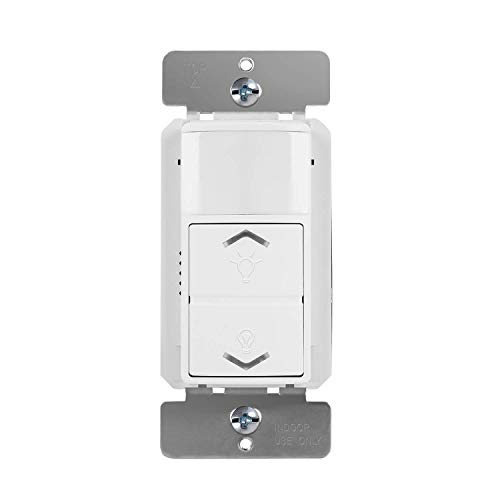 TOPGREENER Occupancy Vacancy PIR Motion Sensor with 0-10V Dimmer Light Switch, 800W Electronic Ballast or LED Driver, Single Pole Low-Voltage Dimmer, TDODS5-010, White