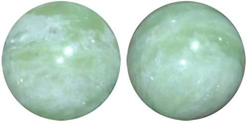 Ronglibai Palm de Bola de Masaje Bolas Baoding Bolas Bolas de baooding, Bola de Salud de la Bola de Balon de Jade Natural en el Dedo Ejercicio de la Bola de Masaje de Ancianos, 2pcs